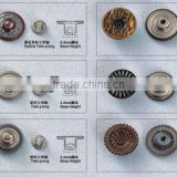 KMJ-2122 metal press jeans snap buttons with classical design,high quality clothes sanp button