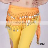 Cheapest belly dancing coins belt belly dance hip scarf belly dance hip belt