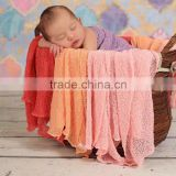 Wholesale Baby Photo Props Newborn Rayon Wraps Stretch Knit Wrap Blanket in stock !!!