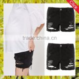 2017 new arrival fashion slim fit black women rip mom maternity cloth shorts panties China suppliers good price wholesale