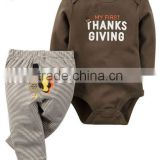 2017 Fall winter hot product children's suit boutique newborn baby thanksgiving clothes