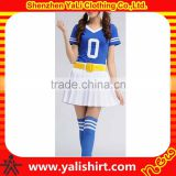 Hot sale custom comfortable mix size cotton short sleeve printed fashion design cheerleading uniforms