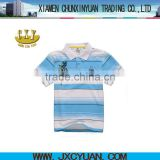 blue and white collar t shirts for boys polo