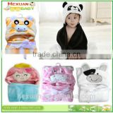 New Arrival style warm cheap hood animal shark cute coral fleece baby bathrobe/baby hooded bath towel/cute