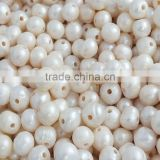 12-13mm high quality white freshwater pearl beads 2.5mm hole!