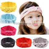 Baby Child Soft Cross Knot Braided Headband Hairband turban for Children Solid headwrap Hair Accessories Headband