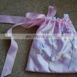 Embroidery /printing ballet dance shoe bags for girls