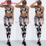 Whoelsale High Waist Print Floral Design Women Fitness Leggings Custom