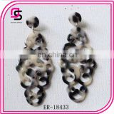 Various shape tortoise shell earring