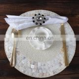 New arrival glass beads shell placemat