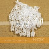 "5"" 100 Lot Snap Lock Pin Security Loop Plastic Price Tag Tagging Fasteners Tags"