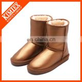metallic leather boots for winter