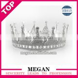 Rhinestone headband tiara crown round diamond alloy crown for bride