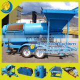 China Diesel Engine Or Generator Drive Small Gold Washing Trommel Plant for Sale