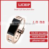 Stainless Steel OLED screen metal band D8 smart watch smart bracelet