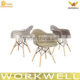 WorkWell plastic chair with wood legs stackable plastic chair outdoor plastic chair KW-P21                                                                         Quality Choice