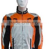 Wholesale Sexy and Handsome Windproof Leather Motorcycle Jacket/Motocross Clothing /