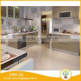 MDF board PVC kitchen cabinets with island wood door