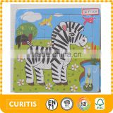 BSCI and NBC Universal audit report wooden puzzle toy factory production 9 psc simple sticker printing plain Horse wooden jigsaw                                                                                                         Supplier's Choice