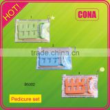 wholesale personlized pvc pouch pedicure set