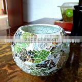 hand made crackle glass mosaic candle holders mosaic jar good for home decor holiday gift solar lamp use in garden                                                                         Quality Choice