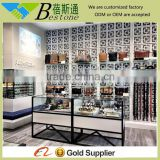 2015 latest hat display rack for retail store, modern showcase metal furniture for watch/hat display