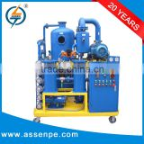 Low operating cost transformer oil regeneration device/ insulation oil decoloring machine