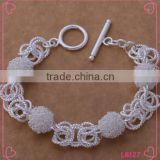 Round cut diamond bracelet silver jewelry tennis bracelet Korea fashion bracelet