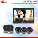 RV-7003V car backup camera system with 7inch waterproof, metal housing, QUAD LCD monitor