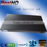 1 in 8 out HDMI Y Splitter to Coaxial for cartoon tv