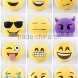 factory wholesale soft cute cheapest whatsapp emotion PP cotton plush emoji pillow cushion stuffed toy for sofa or decorate