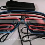 EL wire shutter party sunglasses window type multi colors el lighted up party glasses with CE RoHS approval