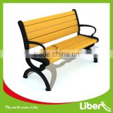 Wenzhou manufacturer modern wooden steel frame public seating used park benches park chairs for sale LE.XX.047