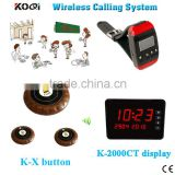 Restaurant Table Buzzer Wireless Service Call System Restaurant Wireless Ordering Service For Customer Wrist Watch Pager Set