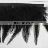 Rooster saddle feather trim