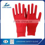 Hot Sale 13G Red / Orange Knitted Cut Resistant level 5 Garden Working Gloves/Safety Glove with CE Certification