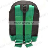 2016 New Cheap Classic Green and Black Belt Harness Canvas Racing Backpack Laptop Bag,Shoulder Car Backpack Bag