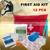 Small first aid kits portable nylon red bag Emergency Medical Product mini first aid kit