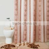 Color Gift box packed shower curtain/bath mat set/ceramic bath accessories set