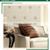 on sale golden edge non woven wallpaper, european damask wall covering for home walls , wallpaper roll size