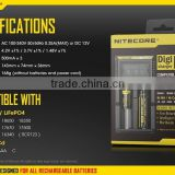 NiteCore d2 charger Intellicharger led flashlight Battery Charger Li-ion /Ni-MH LiFePO4 18650 battery charger box