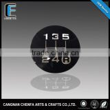 custom 3d acrylic chrome car round logo bumper sticker badge
