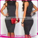 Latest Design Adults Age Group Turtleneck Tight Dress                                                                         Quality Choice