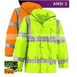 ANSI class 3 fluorescent work clothing