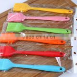 Length 21cm colorful BBQ grill silicone cleaning brush,silicone basting brush pastry brush