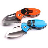 440A stainless steel mini folding pocket knife gift knife with orange or blue G10 handle