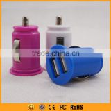 hot selling pink color dual usb mini car charger                                                                                                         Supplier's Choice