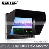 7 inch ips panel lcd display wide view angle 1280x800 pixel video shooting broadcasting bmpcc rig
