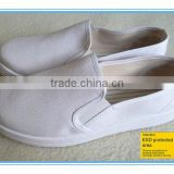 JR-0074 high quality comfortable canvas upper PVC outsole ESD shoes for men manufacturer (OEM)