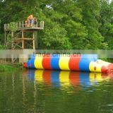 Giant domestic commercial inflatable water catapult blob trampoline outdoor lake game toy for adult